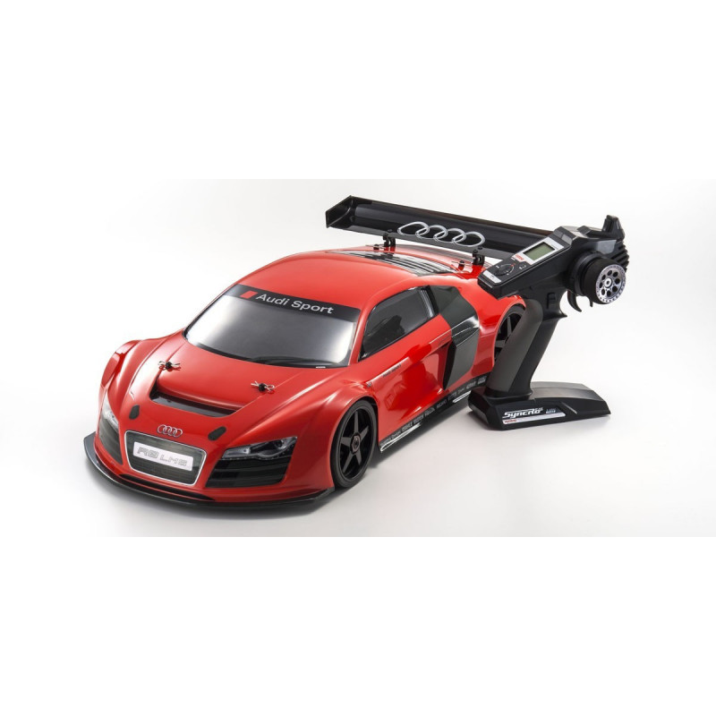 34102 Kyosho Inferno Gt2 Ve Race Spec 1 8 Scale Radio Control Brushless Powered 4wd Touring Car Readyset Audi R8 Lms Red